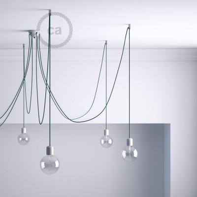 Priehľadný stropný decentralizér - háčik a zarážka pre textilné elektrické káble.