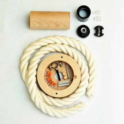 Fotonávod na zostavenie lampy z námorníckeho lana