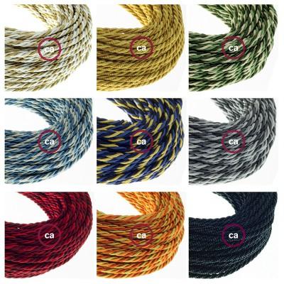 Nové stočené textilné káble v klasických farebných kombináciách a nové tienidlá 1000 fori.