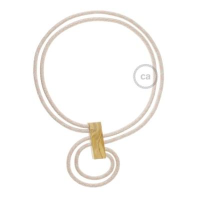 Nekonečný náhrdelník - prispôsobiteľný - dvojfarebný staroružové kosoštvorce RD61 a staroružové pásy RD51.