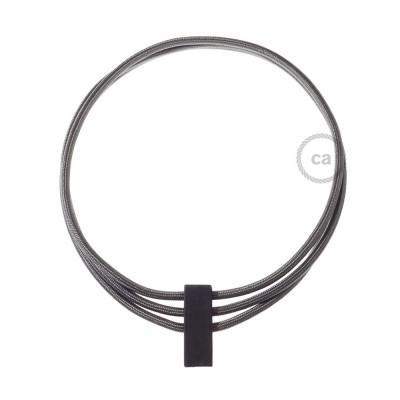 Kruhový náhrdelník s farbami: tmavo šedá RM26.