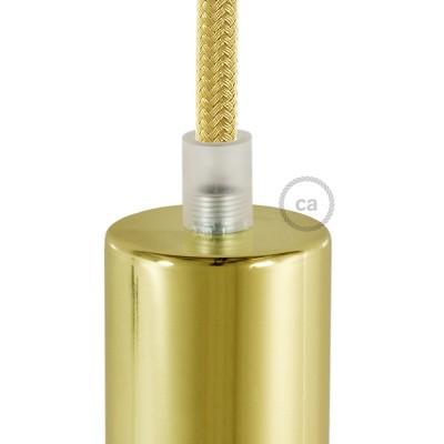 Priehľadný okrúhly plastový držiak pnutia kábla so závitovou tyčkou, matkou a podložkou.