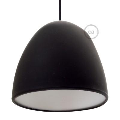 Čierne Silikónové tienidlo s difúzorom a držiakom pnutia kábla. Priemer 25 cm.