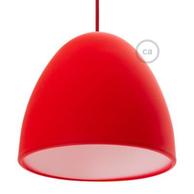 Červené Silikónové tienidlo s difúzorom a držiakom pnutia kábla. Priemer 25 cm.