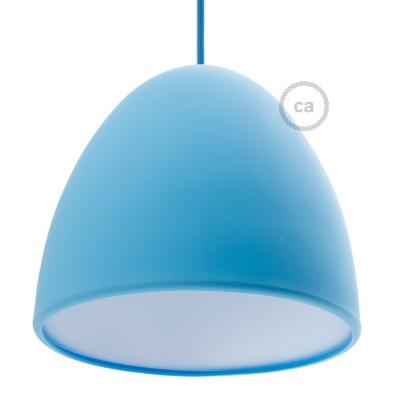 Modré Silikónové tienidlo s difúzorom a držiakom pnutia kábla. Priemer 25 cm.