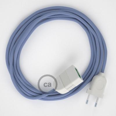 Lila hodvábny RM07 2P 10A textilný predlžovací elektrický kábel. Vyrobený v Taliansku.