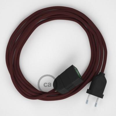 Bordový hodvábny RM19 2P 10A textilný predlžovací elektrický kábel. Vyrobený v Taliansku.