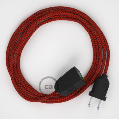 Red Devil hodvábny RT94 2P 10A textilný predlžovací elektrický kábel. Vyrobený v Taliansku.