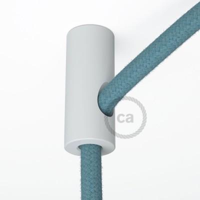 Biely stropný decentralizér - háčik a zarážka pre textilné elektrické káble.