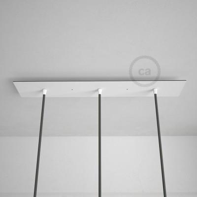 Obdĺžniková 60x12 cm XXL stropná rozeta s 3 otvormi + Súčiastkami