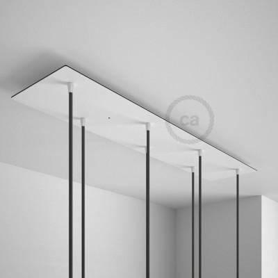 Obdĺžniková 90x20 cm XXL stropná rozeta so 7 otvormi + Súčiastkami