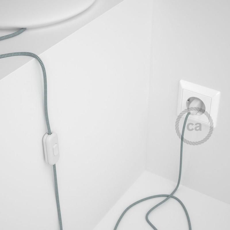 Napájací kábel pre stolnú lampu, RT14 Stracciatella hodvábny 1,80 m. Vyberte si farbu zástrčky a vypínača.