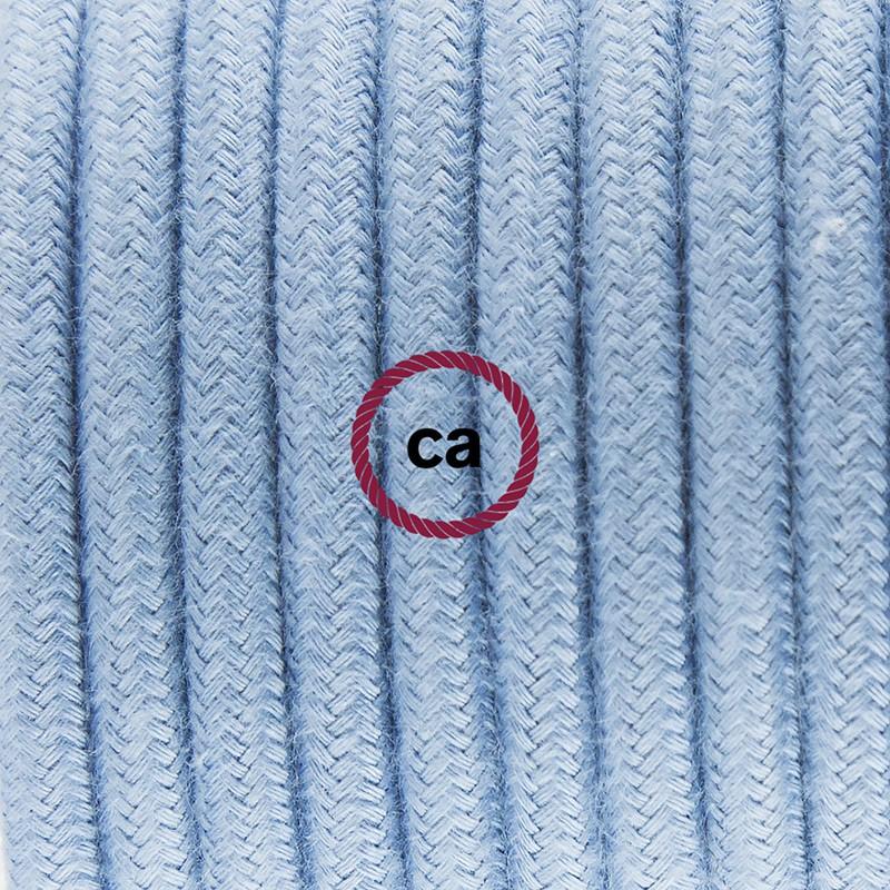"""""""Had"""" závesná lampa s textilným káblom - bavlna - oceán RC53"""