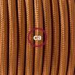 """Had"" závesná lampa s textilným káblom - hodváb - whisky RM22"