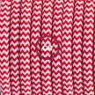 """Had"" závesná lampa s textilným káblom - hodváb - cik cak červená RZ09"