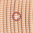 """Had"" závesná lampa s textilným káblom - hodváb - cik cak oranžová RZ15"