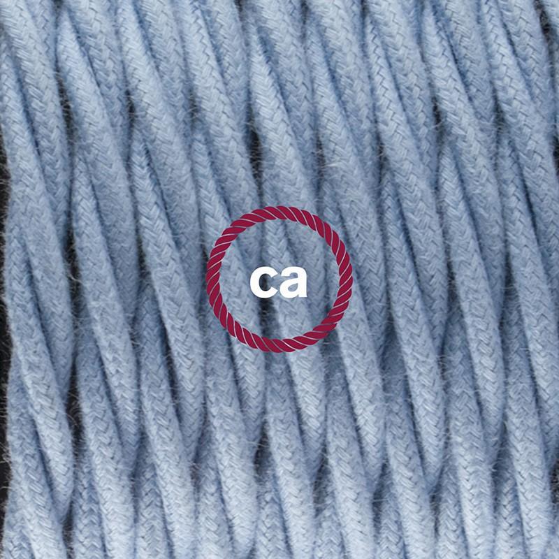 """""""Had"""" závesná lampa s textilným káblom - bavlna - oceán TC53"""