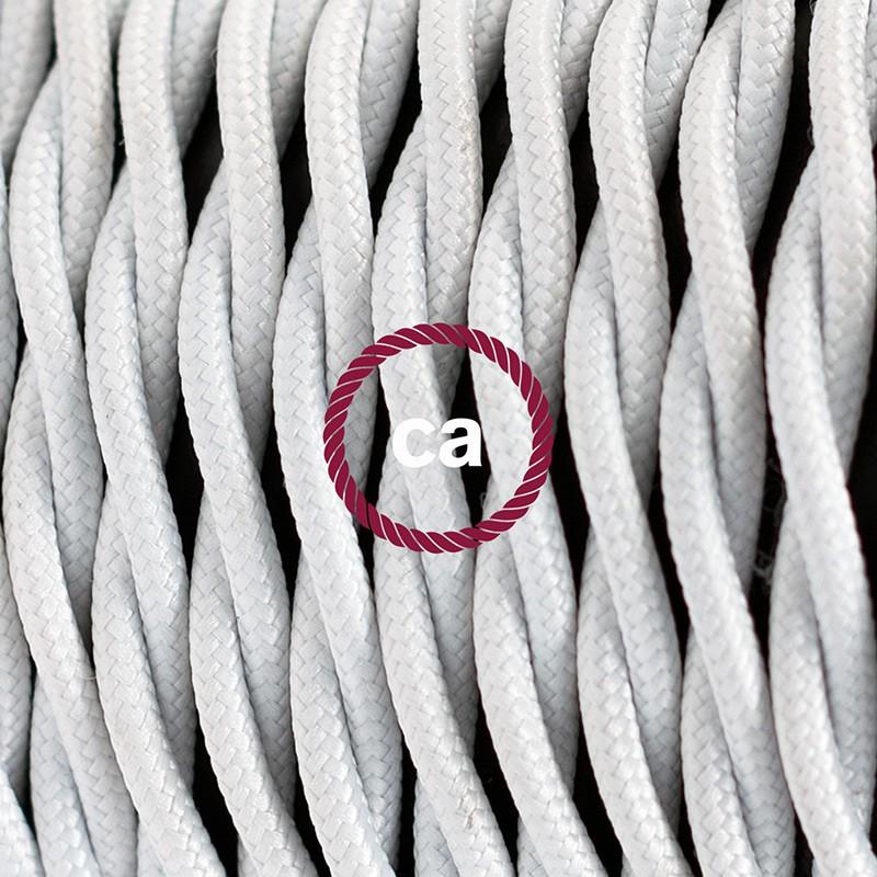 """""""Had"""" závesná lampa s textilným káblom - hodváb - biela TM01"""
