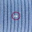 """""""Had"""" závesná lampa s textilným káblom - bavlna - modrý CikCak , ľan prírodná farba RD75"""