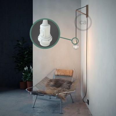 """""""Had"""" závesná lampa pre tienidlo s textilným káblom - hodváb - čierna RM04"""