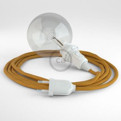 """""""Had"""" závesná lampa pre tienidlo s textilným káblom - hodváb - zlatá RM05"""
