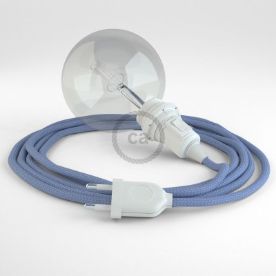 """""""Had"""" závesná lampa pre tienidlo s textilným káblom - hodváb - lila RM07"""
