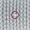 Napájací kábel pre podlahovú lampu, RD65 Kosoštvorcový modrý bavlneno - ľanový 3 m. Vyberte si farbu zástrčky a vypínača.