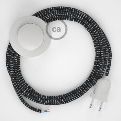 Napájací kábel pre podlahovú lampu, RT41 Stars hodvábny 3 m. Vyberte si farbu zástrčky a vypínača.