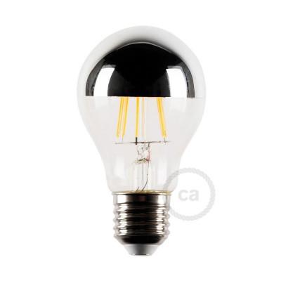 LED žiarovka E27 so striebornou polguľou 4W, 2700K