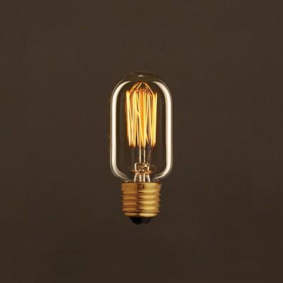 Zlatá vintage žiarovka T45 elektrónka s vertikálnym uhlíkovým vláknom 25W E27 Stmievateľná 2000K