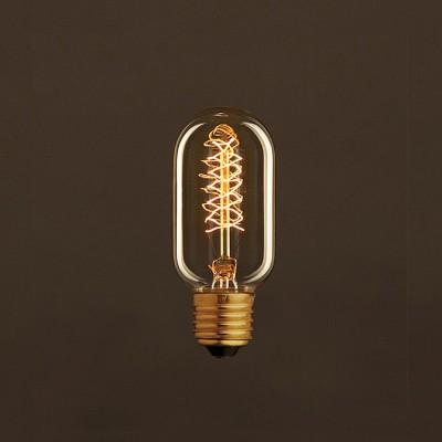 Zlatá vintage žiarovka T45 elektrónka so špirálovým uhlíkovým vláknom 25W E27 Stmievateľná 2000K