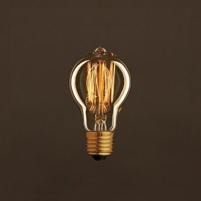 Zlatá vintage žiarovka A60 Kvapka s vertikálnym uhlíkovým vláknom 25W E27 Stmievateľná 2000K