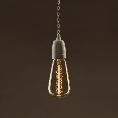 Zlatá vintage žiarovka ST64 Edison so špirálovým uhlíkovým vláknom 25W E27 Stmievateľná 2000K