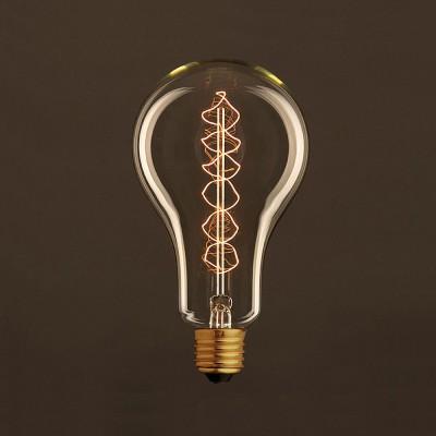 Zlatá vintage žiarovka A95 Kvapka so špirálovým uhlíkovým vláknom 25W E27 Stmievateľná 2000K