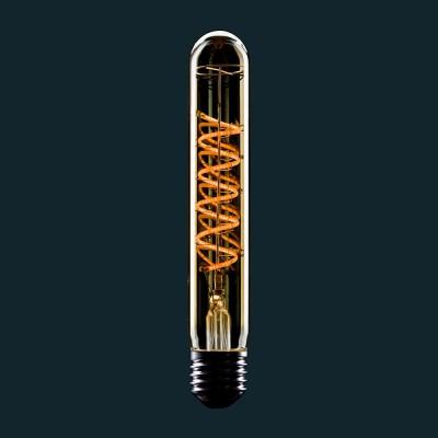 Zlatá LED žiarovka T28 s dvojitým špirálovým vláknom 4W E27 Stmievateľná 2000K