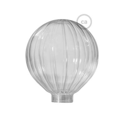 Sklenená banka pre modulárnu dekoratívnu žiarovku G125 Priehľadný balón