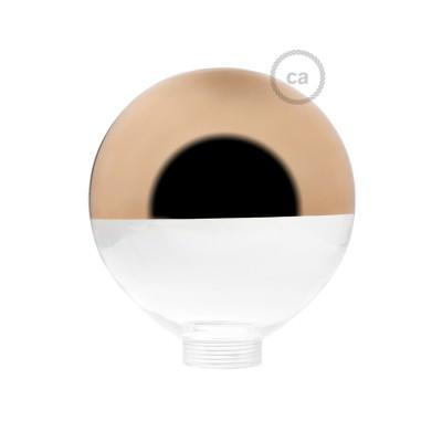 Sklenená banka pre modulárnu dekoratívnu žiarovku G125 s medenou polguľou