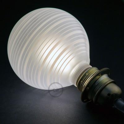 Modulárna LED žiarovka a biela banka s horizontálnymi pruhmi 5W E27 Stmievateľná 2700K