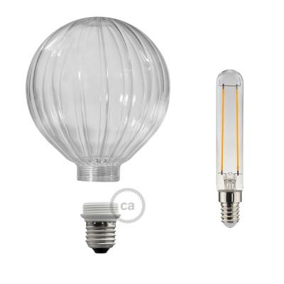 Modulárna LED žiarovka a banka priehľadný balón 5W E27 Stmievateľná 2700K