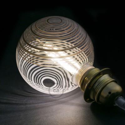 Modulárna LED žiarovka a biela banka s čierno - bielymi kruhmi 5W E27 Stmievateľná 2700K