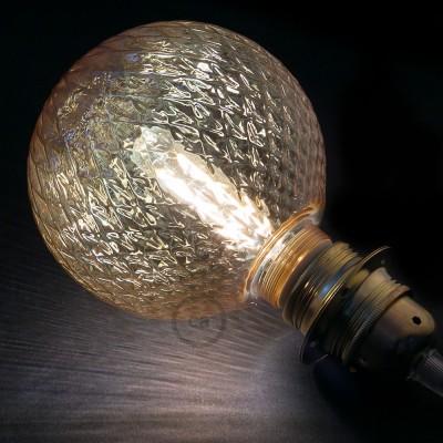 Modulárna LED žiarovka a dymová banka s pyramídovým vzorom 5W E27 Stmievateľná 2700K