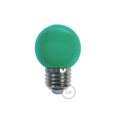 Dekoratívna G45 Miniglóbusová LED žiarovka 1W E27 2700K - zelená