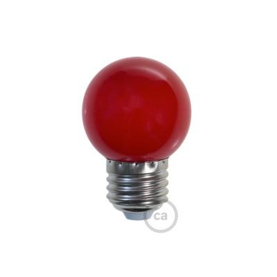 Dekoratívna G45 Miniglóbusová LED žiarovka 1W E27 2700K - červená