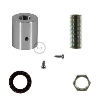 Chrómovaná kovová koncovka pre 16 mm trubice Creative-Tube, s príslušenstvom