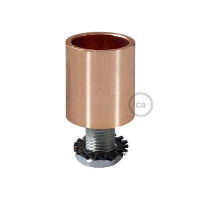 Medená kovová koncovka pre 16 mm trubice Creative-Tube, s príslušenstvom