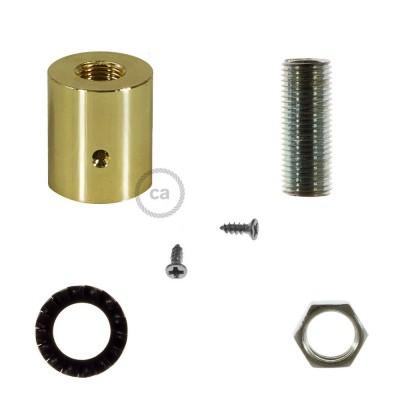 Mosadzná kovová koncovka pre 16 mm trubice Creative-Tube, s príslušenstvom