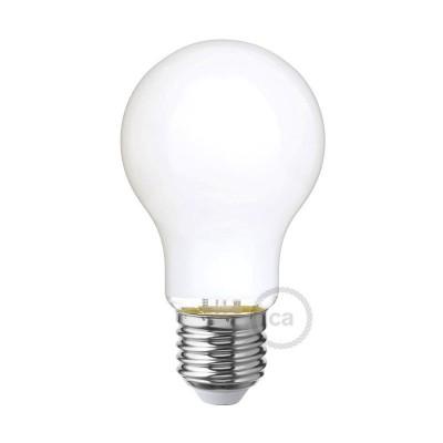 LED žiarovka s mliečnym sklom - Kvapka A60 - 6W E27 Stmievateľná 2700K