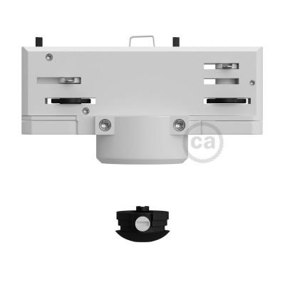Eutrac biely závesný adaptér pre koľajnicové konzoly s 3 - fázovým obvodom