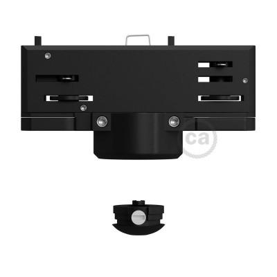 Eutrac čierny závesný adaptér pre koľajnicové konzoly s 3 - fázovým obvodom