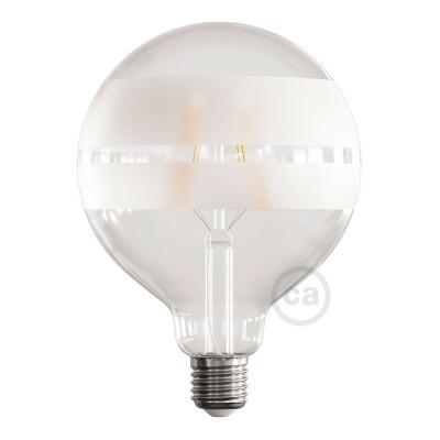 LED žiarovka - Glóbus G125 so špirálovým vláknom - Tattoo Lamp® Saturn 4W E27 2700K